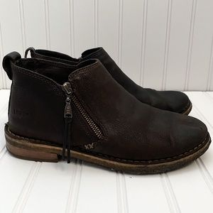 Ugg Clementine Shearling Lined Zip Leather Boots
